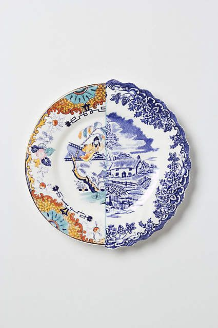 50 Cool Decorating Pieces Under $50 from Anthropologie: Unlikely Symmetry Orange Side Plate, $42
