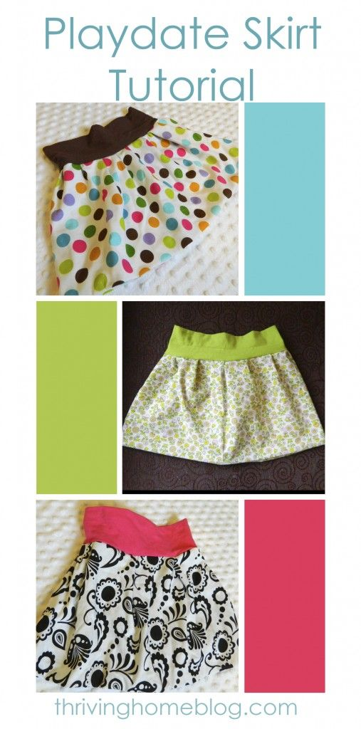 Makkelijk diy rokje voor baby of peuter. Easy Sewing Tutorial for a Little girl skirt: making today!