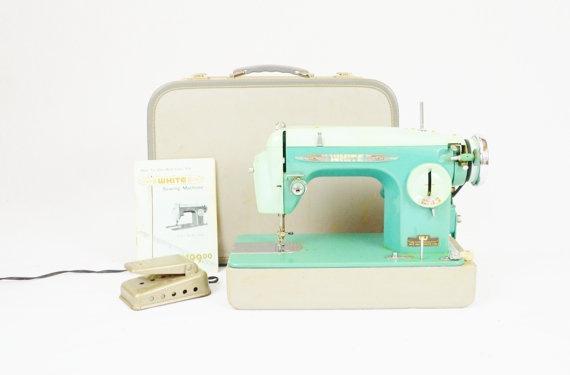 Mint Sewing Machine >> Wanelo    #green #mint #sewingmachine #sewing #vintage #sewcratic