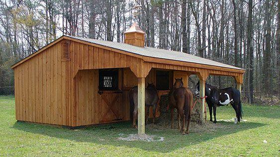 Lean To Shedrow Horse Barn Horse Barns Pinterest So