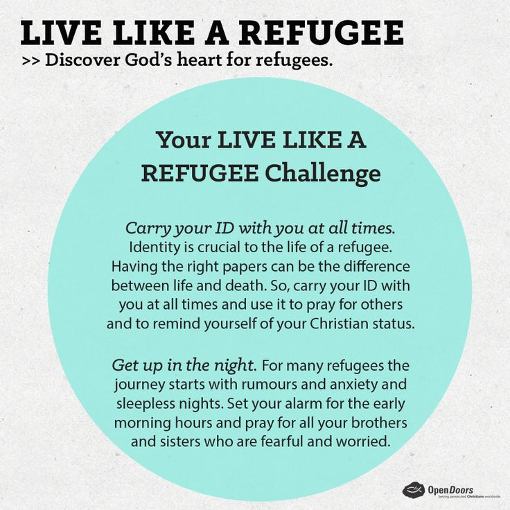 Are you up for the challenge? We would love to hear your #experiences of living like a refugee. Tweet @opendoorssa to share how your #livelikearefugee experiences is going, or tell us here on Facebook. Take pictures and tag us on Instagram open_doors_sa. Tell the world!  Not signed up for 'Live like a refugee'? Sign up here: