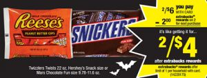 Only $1 for Snickers Fun Size Bags at both CVS and Walgreens! - http://printgreatcoupons.com/2013/10/18/only-1-for-snickers-fun-size-bags-at-both-cvs-and-walgreens/