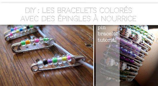 DIY avec des épingles à nourrice // With safety pin