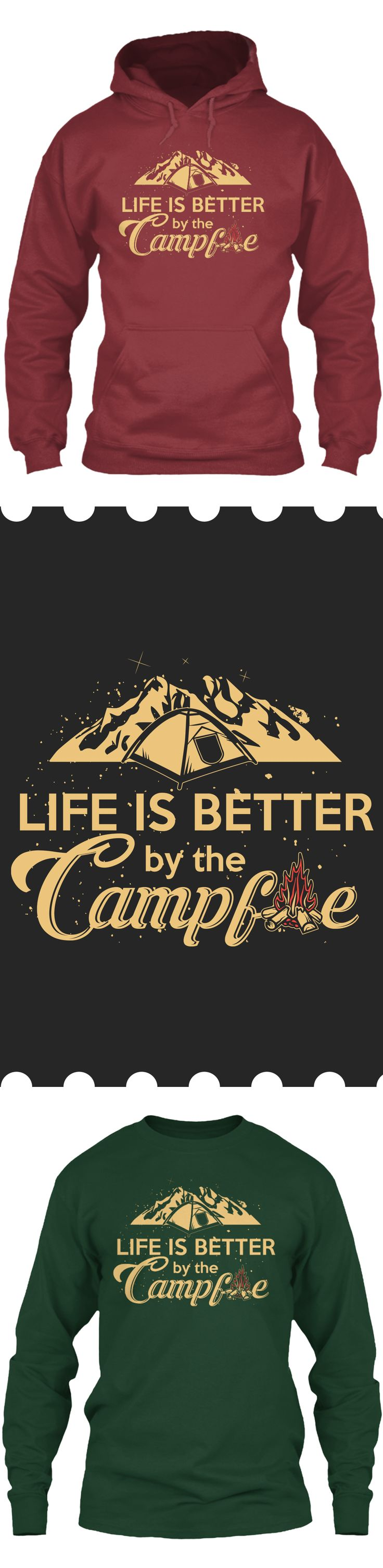 Life is better when Camping - Get this limited edition Long Sleeves and Hoodies just in time for the holidays! Only 2 days left for FREE SHIPPING, click to buy now!