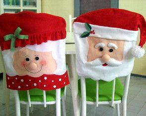 Capa de cadeira Mamãe Noel
