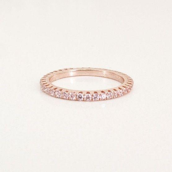 3.4 Golden Cataforesi and Pink Swarovski Ring  $325.00- Margaux Wenger Bijoux
