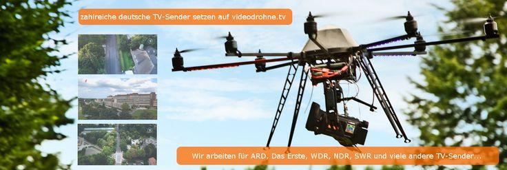 Deutsche TV-Sender setzen auf videodrohne.tv Unsere Drohnen - Videodrohnen und Flugroboter sind unter anderem auch für die Erstellung von Werbefilmen - Image u. Marketingfilmen im Einsatz. Das Erste - ARD - WDR - NDR - SWR und zahlreiche andere Lokalsender strahlen die Luftaufnahmen unserer Videodrohnen bereits seit 2013 aus.