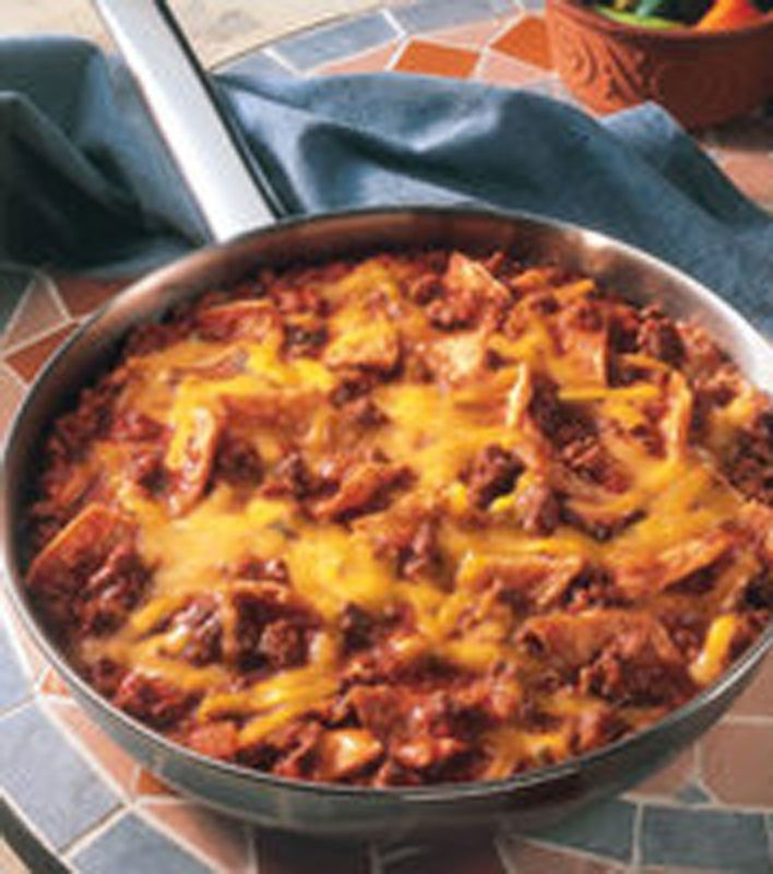 Beef Taco Skillet by Rachel Ray (use corn tortillas, for a more complex carbohydrate!)