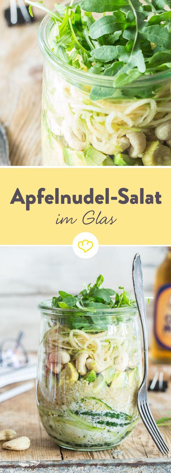 Langweiler-Lunch war gestern: Heute gibt´s Apfelnudel-Gurken-Salat im Glas  – Salat 2.0