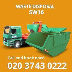 Streatham dispose of waste SW16
