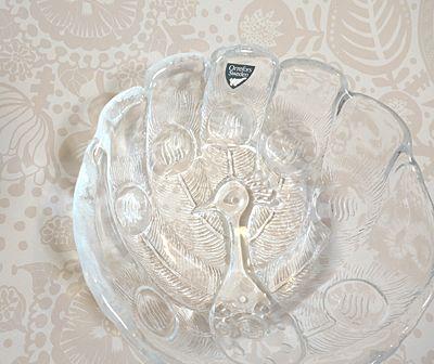 スウェーデン 北欧雑貨 Orrefors オレフォス ガラス ガラスボール 孔雀 王室御用達 3,000yen 「有限会社わ / Wa LIV Shop」