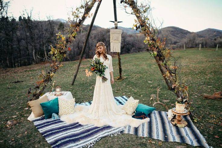 Bohemian Harvest Wedding - Styled Shoot on WeddingVault.com