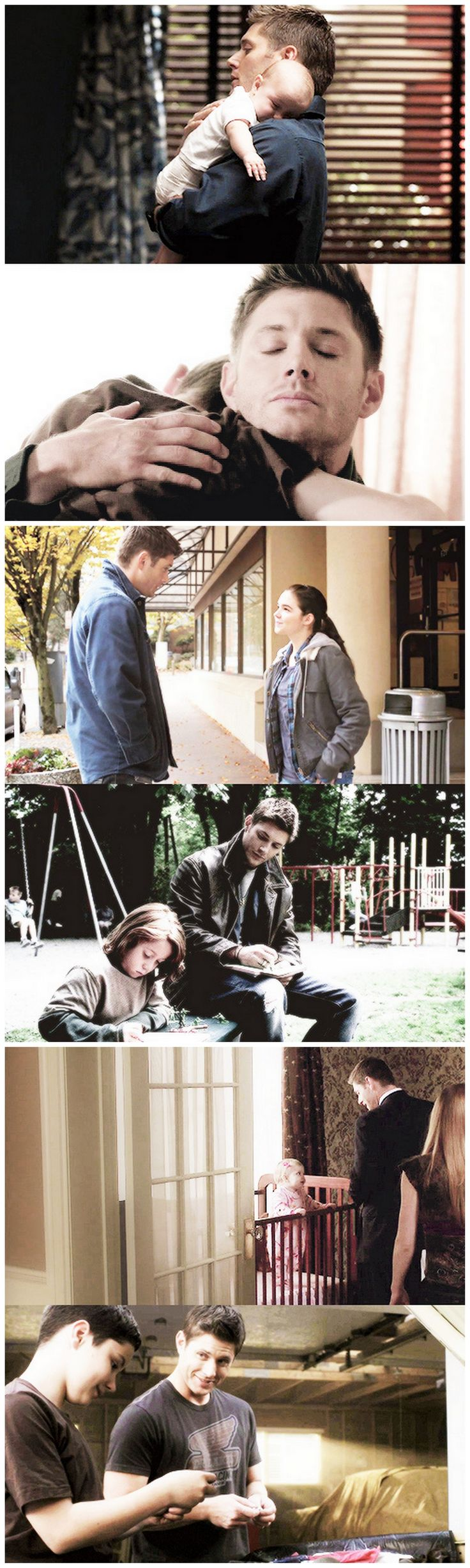 Dean is always the one with the kids, Sam is better at speaking to the adults so they answer questions, but Dean can talk to the kids. But you don't get it, he practically raised Sam since he was 4, he was always the one to give him dinner and tuck him in, he was the one who stayed home to take care of Sam when their dad was out hunting. This is why Sam never saw eye to eye with their dad, not just because they never got along, but because he was never a dad to him. Dean was his brother and…
