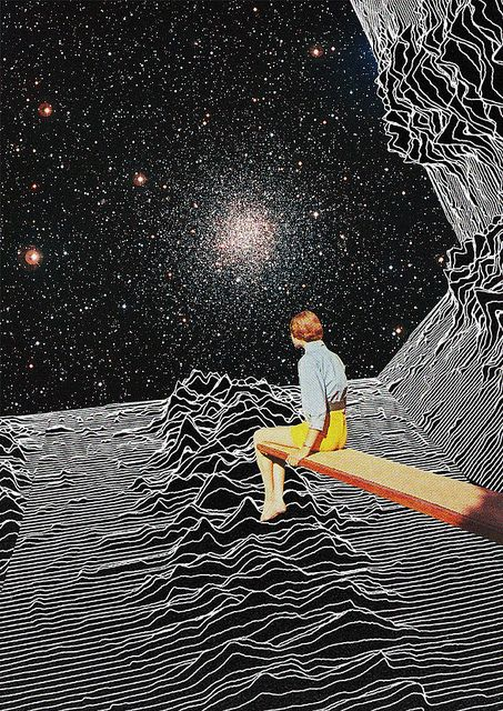 'Unknown Pleasures to Infinity' collage by Mariano Peccinetti aka Trasvorder.