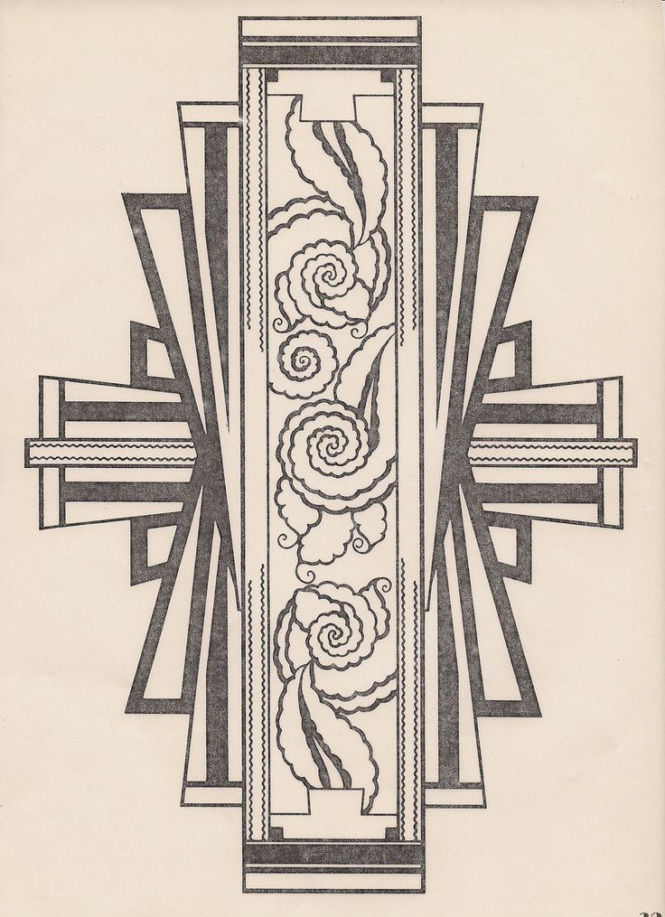 Art deco design. Found on decornow.net