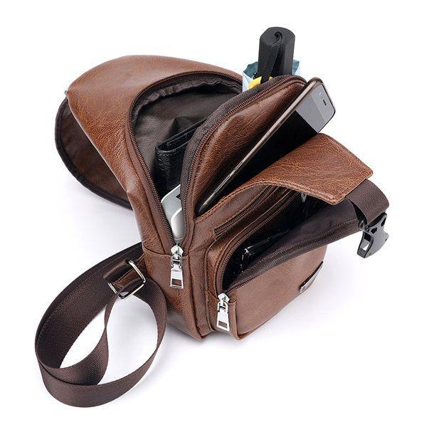 01766dc295 Outdoor Shoulder USB Charging Port Chest Bag Travel Daypack Sling Bag  Crossbody Bag For Men is worth buying - NewChic