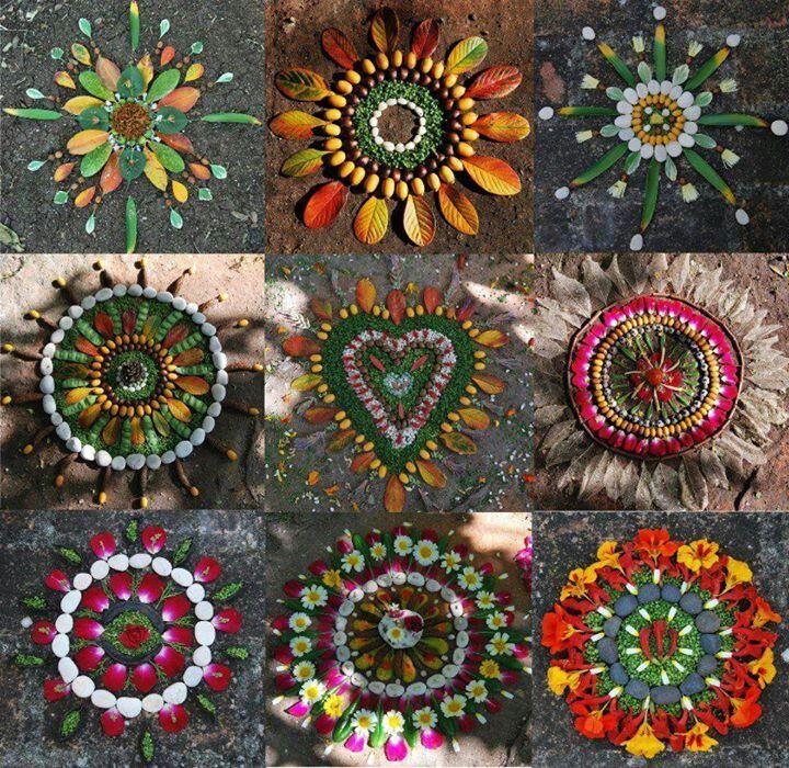 Las posibilidades cambian con las estaciones del año. Otoño y Primavera tienen más colores, pero el resto del año también tiene su gracia. Land art