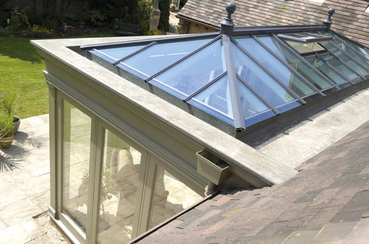 Roof lanterns for conservatories and orangeries. Timber Windows