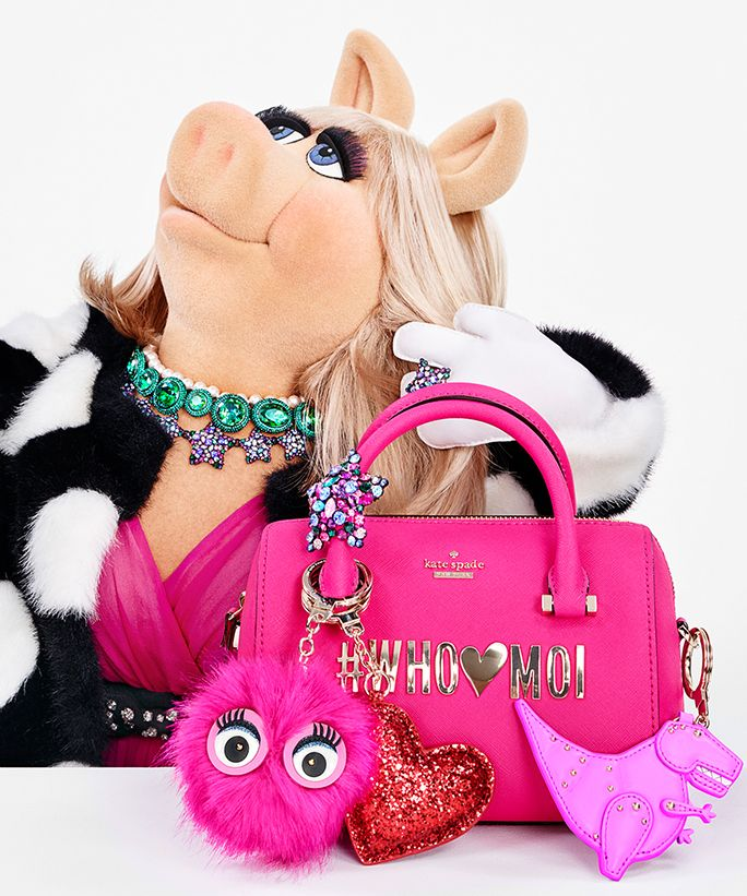 Miss Piggy designs a collection and lands a starring role in Kate Spade New York's holiday 2016 campaign.