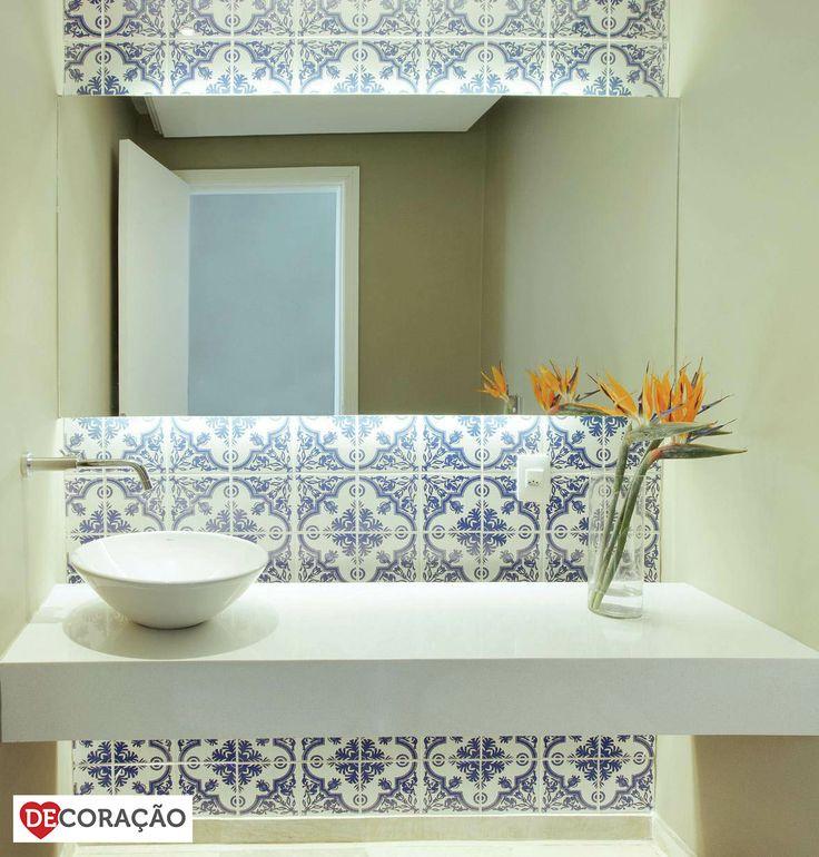 17 mejores ideas sobre Azulejos Para Banheiro Pequeno en Pinterest  Paredes  -> Decoracao De Banheiro Com Azulejos Antigos