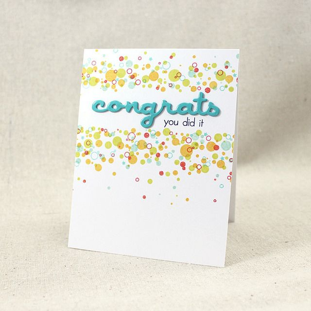 Confetti Congrats Card by Lizzie Jones for Papertrey Ink (November 2015)