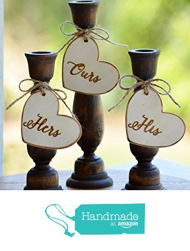 Rustic Unity Candle Holders, Wood Wedding Unity Candle Set,
