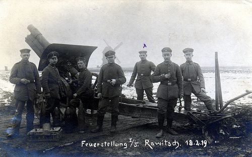 """Feuerstellung I/5. Rawitsch. 18.2.19"" 