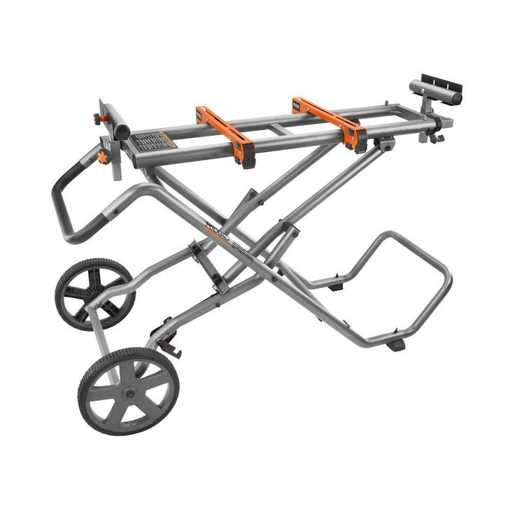 RIDGID Universal Mobile Miter Saw Stand with Mounting Braces
