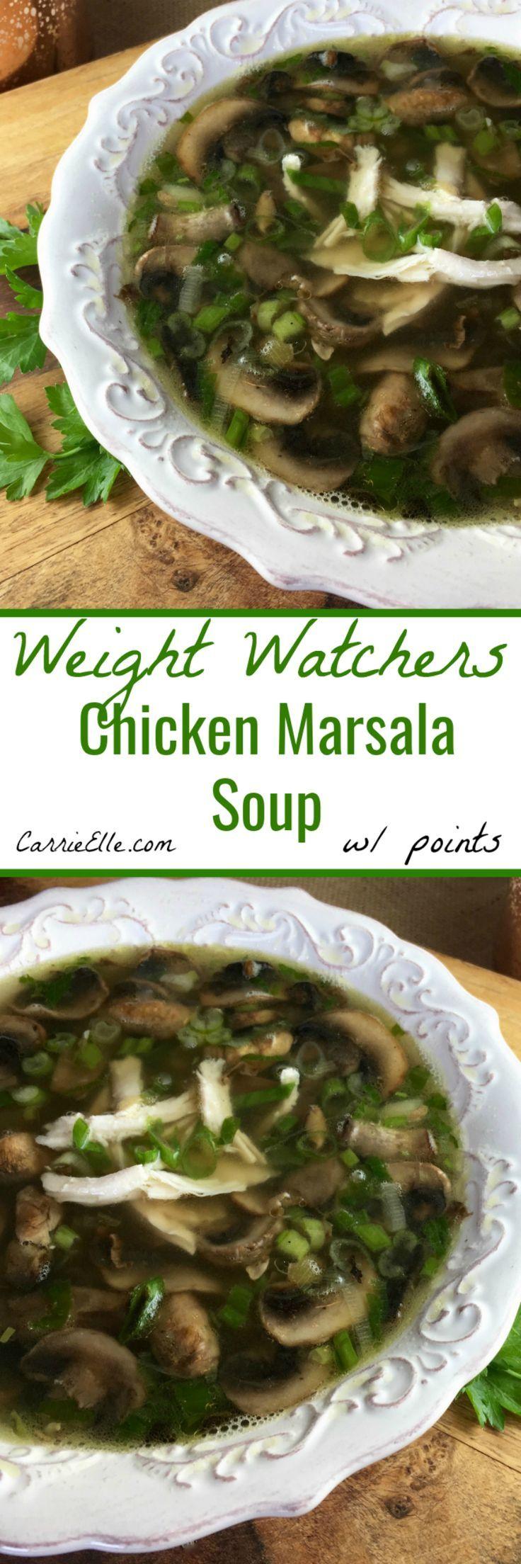 Weight Watchers Chicken Marsala Soup