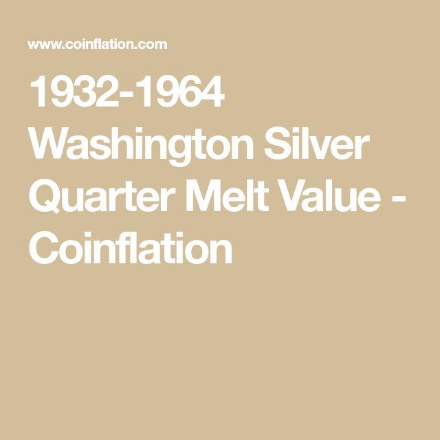 1932-1964 Washington Silver Quarter Melt Value - Coinflation