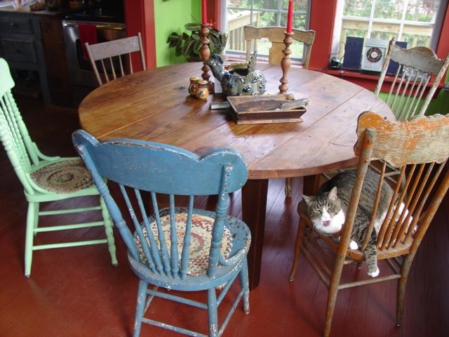 14 Best Round Table And Chairs Images On Pinterest  Dinner Custom Primitive Dining Room Sets Inspiration