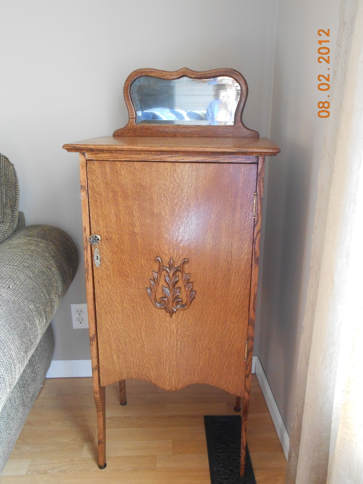 This Is An Antique Quarter Sawn Oak Music Cabinet I Found