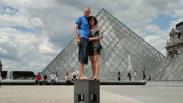 Louvre, Paris with my lovely wife
