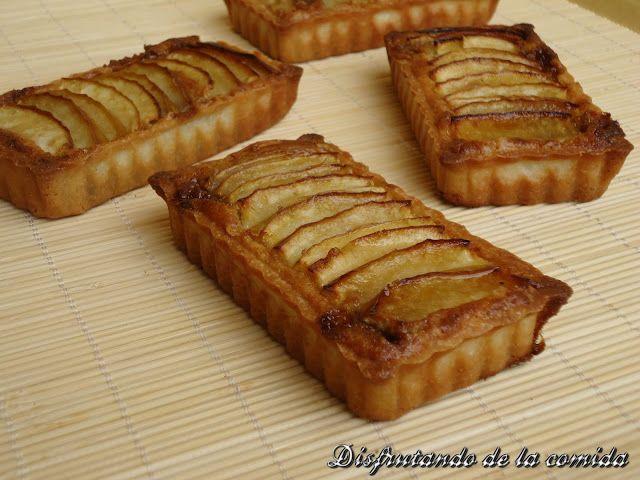 Tartaletas de Manzana con Frangipane y Toffee de Canela - Disfrutando de la comida