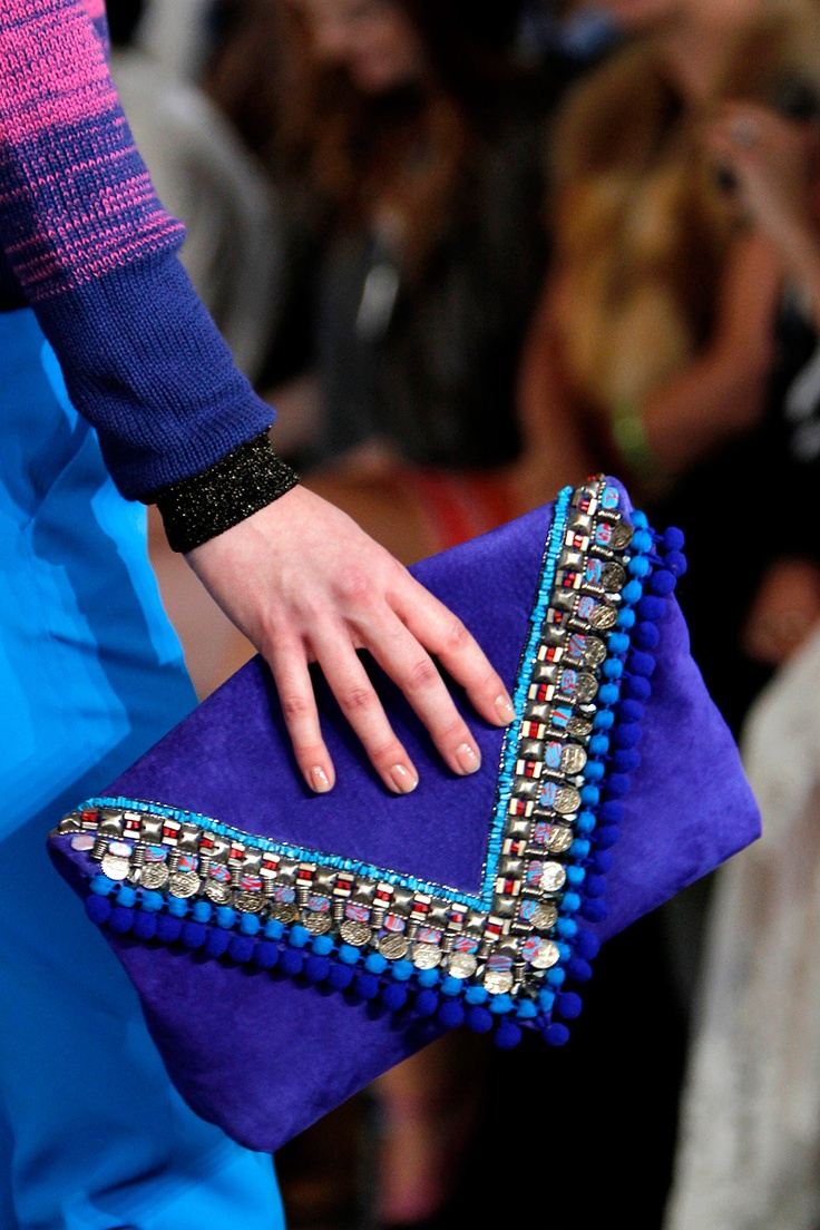 Matthew Williamson Spring 2013 RTW Need this joyous royal blue clutch