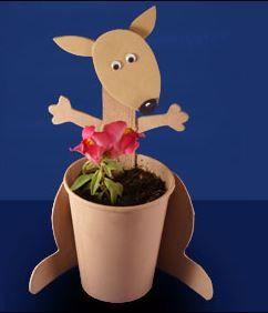 Kangoeroe plantenbakje