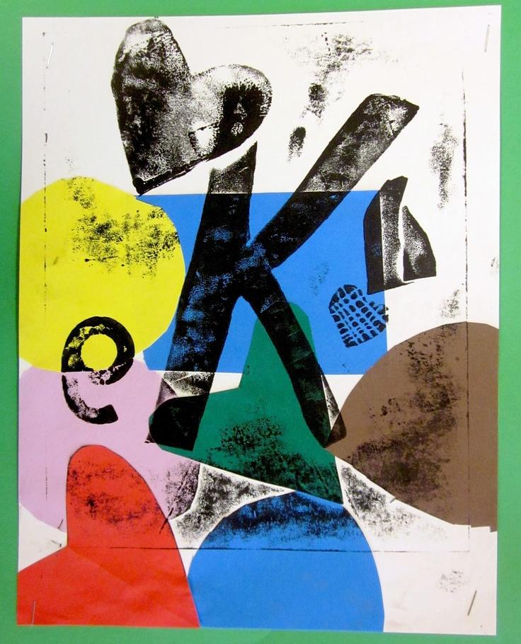 Art is Basic-- Art Teacher Blog: Collograph Prints: 2nd Grade