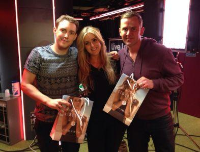 The Vita Liberata team descended on the Radio 1 studios today to tan Scott Mills and Chris Stark