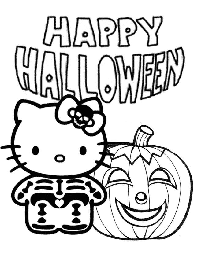 The Top 20 Ideas About Free Printable Halloween Hello Kitty Coloring Pages Hello Kitty Colouring Pages Halloween Coloring Halloween Coloring Pages