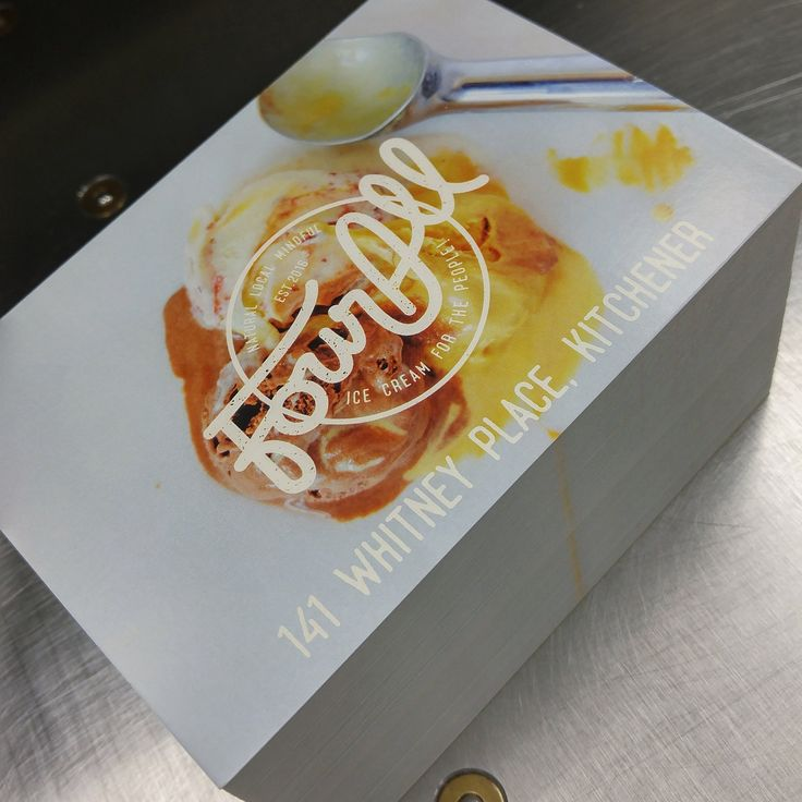 Grand opening postcards that we printed for Four All Ice Cream. #MoreThanJustSigns #printing #print