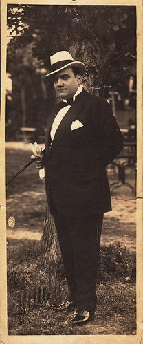 Opera singer Enrico Caruso , about 1913