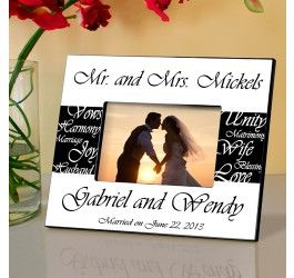Mr. & Mrs. Wedding Frame - Available in 6 Colors. http://lilybeanandbaxter.com/partner/rrobinson