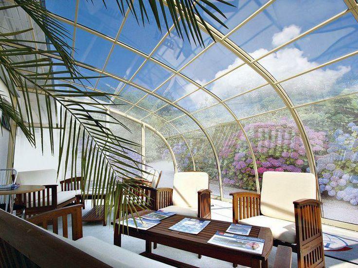 Luxury equipment of retractable terrace enclosure CORSO ENTRY