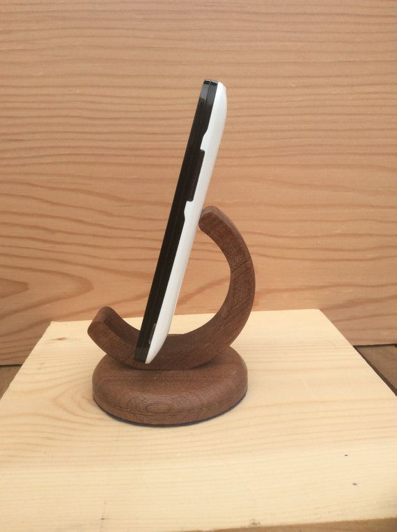 Sapele Mobile Phone Stand by KSHandcraft on Etsy