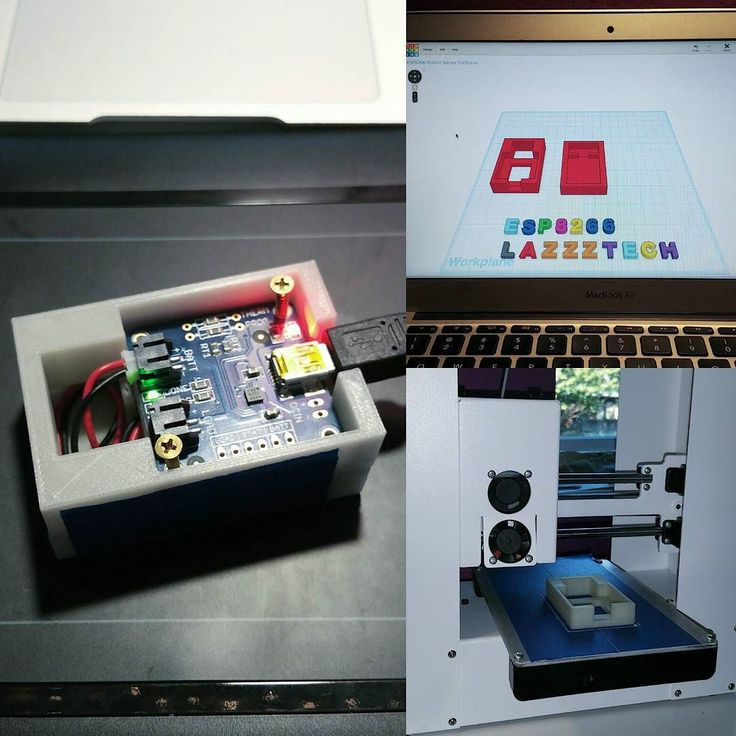 An awesome Pirntrbot pic! Designing and prototyping a 3D printed enclosure for the wifi enabled motion notification system. Using tinkercad.com with my wacom pad and printing with glow in the dark filament. It's working out like a dream. | #hobby #3dprinting #design #tinkercad #create #hack #printrbot #play #esp8266 #adafruit #iot #internetofthings #homeautomation #tech #project #progress by lazz_tech Check us out http://bit.ly/1KyLetq