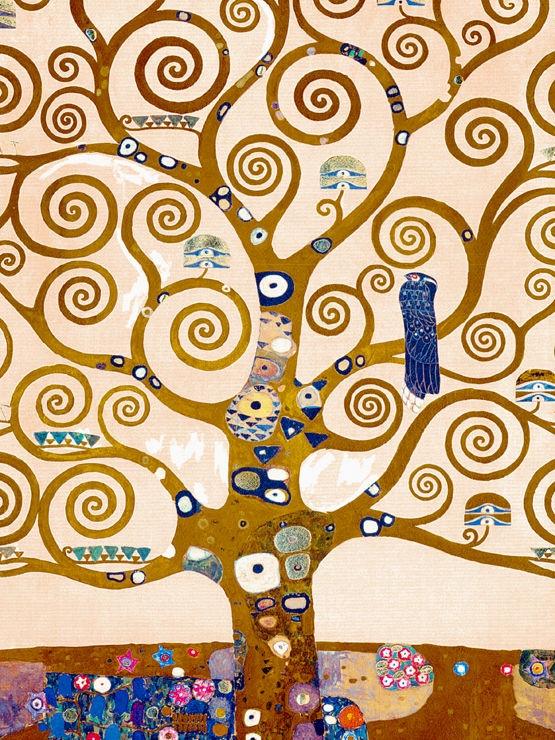 L' Albero - particolare dell' Albero della Vita - Klimt Gustav Pannello Stoclet - Klimt Gustav - STAMPA SU TELA € 31,08