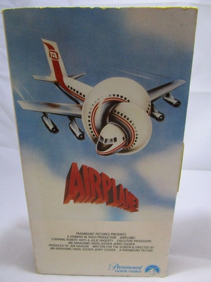 Airplane (VHS, 1980) Peter Graves, Leslie Nielsen Rated PG