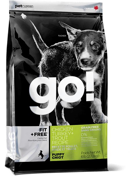 GO! FIT + FREE Grain Free Puppy Food Recipe is prepared with premium-quality meat proteins, fruits, veggies, and omega oils.