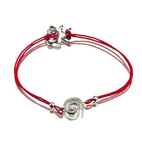 #CORIOLAN Bratara din snur rosu cu spirala B227