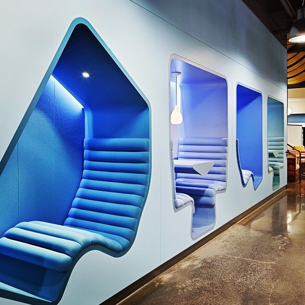 Work pods we designed for google 39 s ca office by www for Interior design companies in riyadh